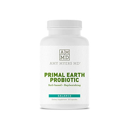 Prescription Strength Three Strain Soil Based Probiotic - Primal Earth Probiotic from The Myers Way Protocol - Promotes Normal Bowel Pattern, Replenishes Healthy GI Microflora - Dietary Supplement