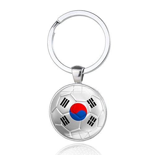 2018 World Cup Unique Soccer Key Chain Football Shape Metal Key Ring South Korea team