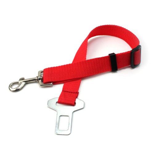 New Adjustable Car Safety Leash Dog Cat Buckle Seatbelt Seat Belt Harnes (Red)