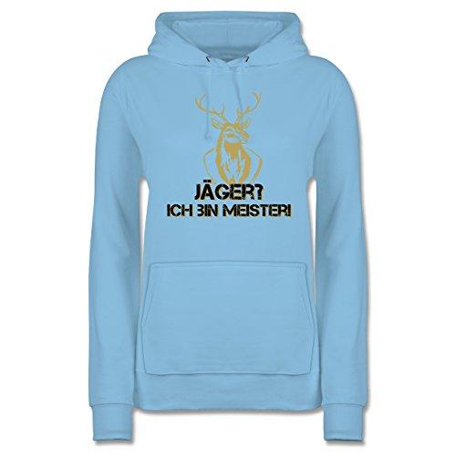 Après Ski - Jäger? Ich Bin Meister! - Damen Hoodie Hellblau IobEN