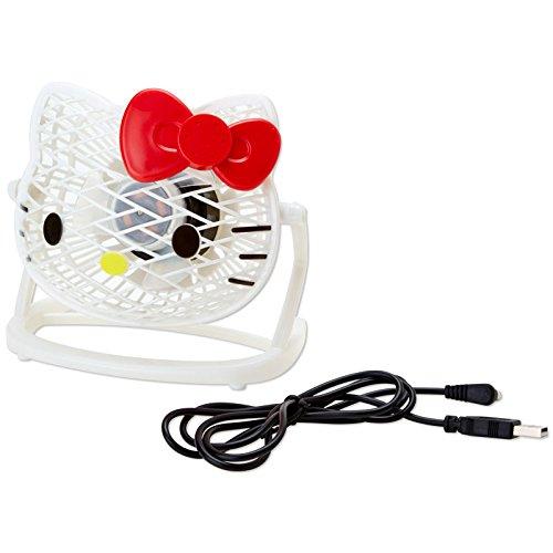 [Hello Kitty]Die cut USB desk fan-white