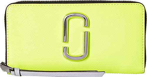 - Marc Jacobs Women's Snapshot Flouro Standard Continental Wallet Bright Yellow Multi One Size