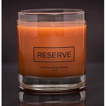 Man Cave Candle in Reusable 8 oz Whiskey Glass - Scented with Masculine Acqua di Gio Fragrance - for the Cool Modern Stylish Classy Sophisticated Gentleman Hand Made in USA