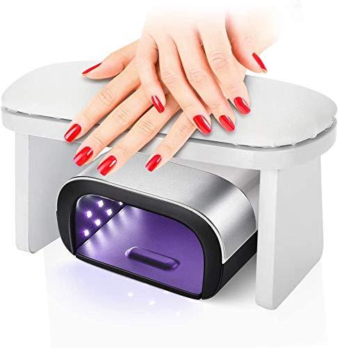 Nagel Armlehne, tragbare Maniküre Handkissen Nagel Kissen Maniküre Tischset Handgelenk Handauflage Kissen für Salon/persönliches Zuhause(Weiß)