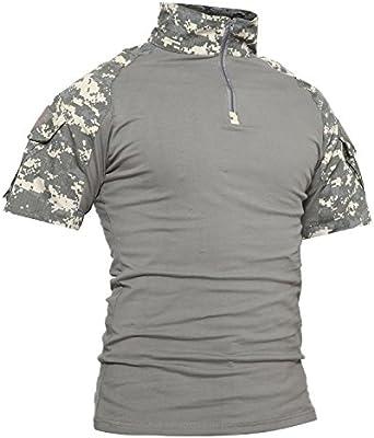 TACVASEN Táctico Militar Hombres Camiseta Pescar Camisas de Polo ...