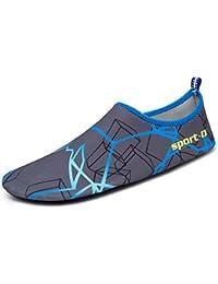 "<span class=""a-offscreen"">[Sponsored]</span>Men Women Barefoot Water Shoes Quick Dry Slip On Aqua Socks For Beach Pool Aerobics"