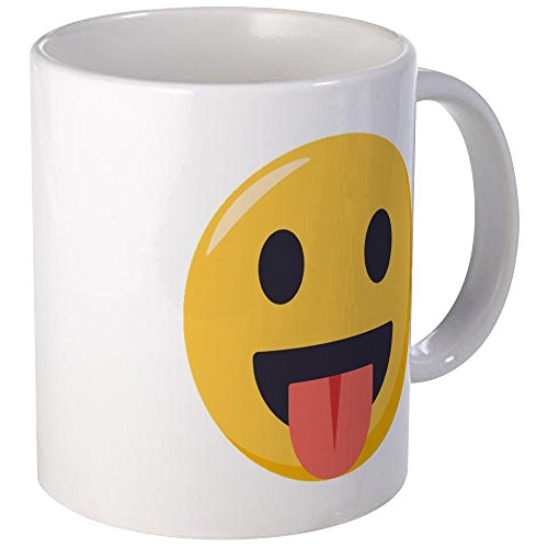 CafePress Face With Stuck Out Tongue Emoji Unique Coffee Mug, Coffee Cup]()