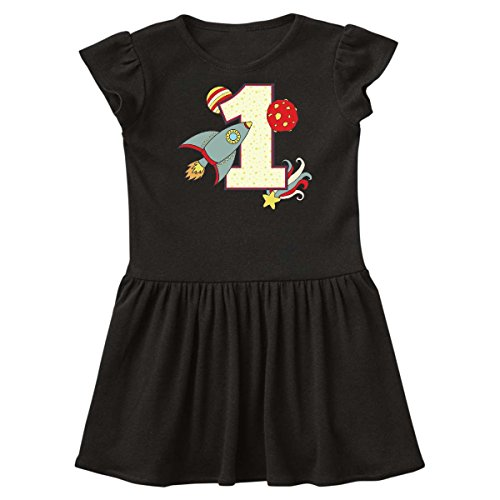 inktastic - 1st Birthday Outer Space Theme Infant Dress 6 Months Black 2196a -
