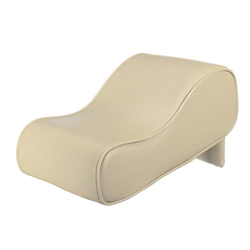 Price comparison product image WINOMO Car Center Console Cushion Universal Soft Leather Auto Armrest Pad Rest Pillow Mat (Cream Coloured)