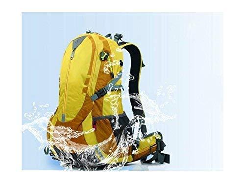 Borse all' aperto, sport esterno ed interno esterno in nylon antistrappo impermeabile alpinismo escursionismo campeggio borsa zaino (giallo)