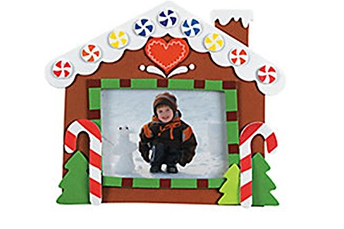 Christmas Picture Frame Craft Kits -12 pack - Gingerbread house ()