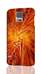 dmb firedancer - Quoteko Pattern Hard Durable 3D Cover Rough Skin Case for Samsung Galaxy S5 i9600