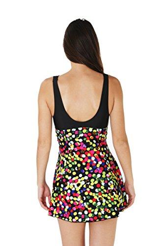 Diseño de mujer traje de baño 1 pieza Negro Bañador para Multicolor