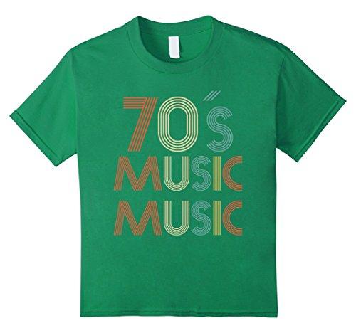 Kids 70s Music T-Shirt Disco Vintage Retro Groovy Disco 70s Music 10 Kelly (Disco Wear For Kids)