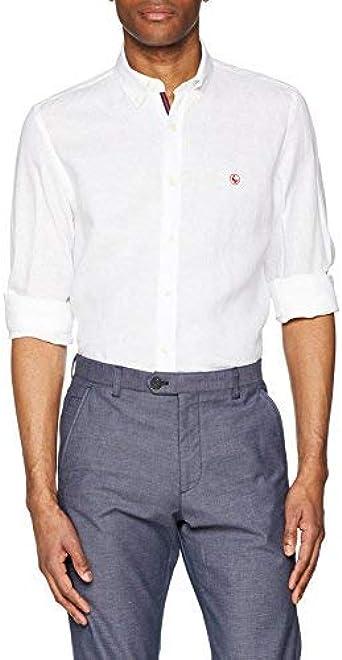 El Ganso 1050s180047 Camisa Casual, Blanco, Large (Tamaño del ...