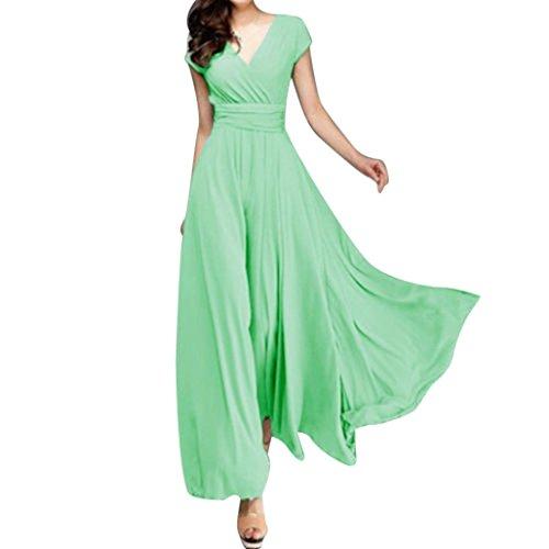De Fiesta Vestido De Oyeden La Gasa Noche Menta Largo De SóLido De De Mujeres Moda Ocasional Gasa Las Verde De nwYqIntdpf