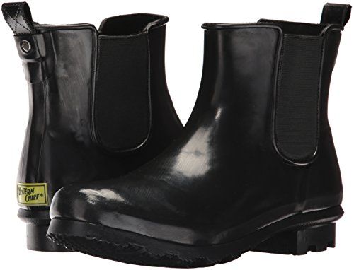 Western Chief Women's Ankle Bootie Rain Boot, Black, 11 M US by Western Chief (Image #6)