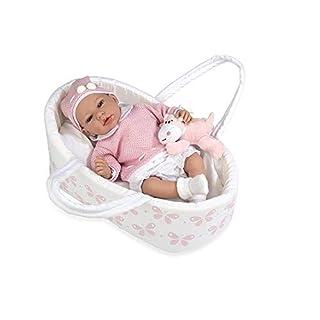 Ann Lauren Dolls 15.2 Inch Baby Doll with Bassinet- Pink