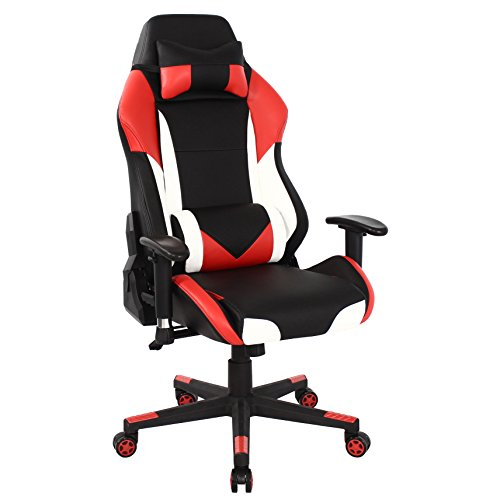 411kxb2XJbL - HOMEFUN-Gaming-Chair-Ergonomic-High-back-Swivel-Racing-Style-Computer-Chair-Executive-Office-Desk-Task-Chair-with-Headrest-and-Lumbar-Support-RedWhiteBlack