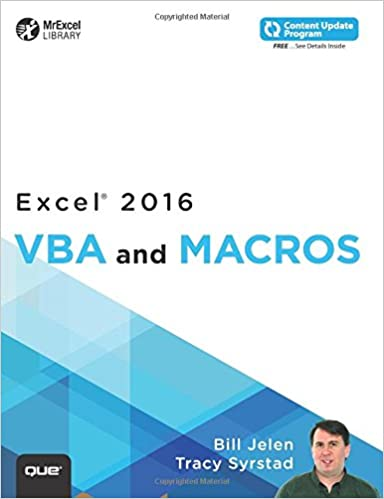 Excel 2016 VBA and Macros (includes Content Update Program) (MrExcel