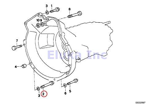 5 x BMW Genuine Torx Bolt - Manual Transmission Bellhousing To Engine (12 X 90 Mm) 525i 318i 318is 318ti 320i 323i 325i 325is 328i M3 M3 3.2 525i 528i 530i 320i 323Ci 323i 325Ci 325i 325xi 328Ci 328i 330Ci 330i 330xi X5 3.0i 525i 530i 535i 535xi 535xi 135i M Coupé X3 2.5i X3 3.0i Z4 2.5i Z4 3.0i 135i Z4 35i 335i 335xi 335i 335xi 335i 33
