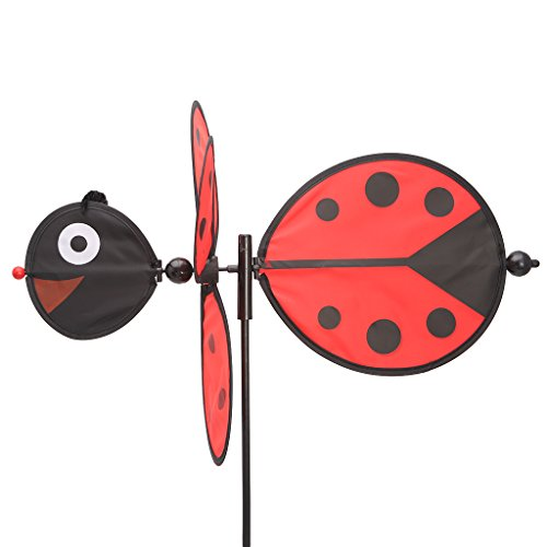 Everything Jin Bee Ladybug Windmill Whirligig Wind Spinner Home Yard Garden Decor Toys for Kids ()