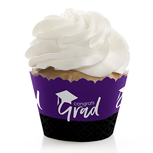 Purple Grad - Best is Yet to Come - Purple Graduation Party Decorations - Party Cupcake Wrappers - Set of 12]()