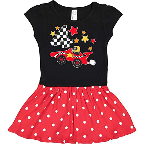 inktastic - Happy 4th Toddler Dress 5/6 Black & Red with Polka Dots 29fd7