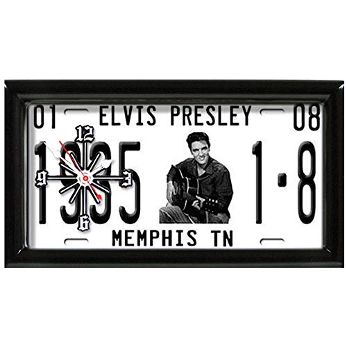 GOOD TYMES ENT Elvis Presley License Plate Clock - Analog Timepiece w/The Kings Birthdate