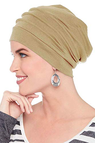 (Headcovers Unlimited Slouchy Snood-Caps for Women with Chemo Cancer Hair Loss Khaki )