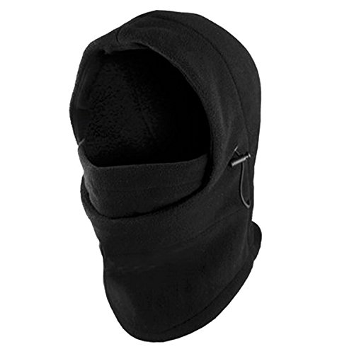 Fleece Ski Hat (Fleece Windproof Ski Face Mask Balaclavas Hood by Super Z Outlet (Black),One Size)