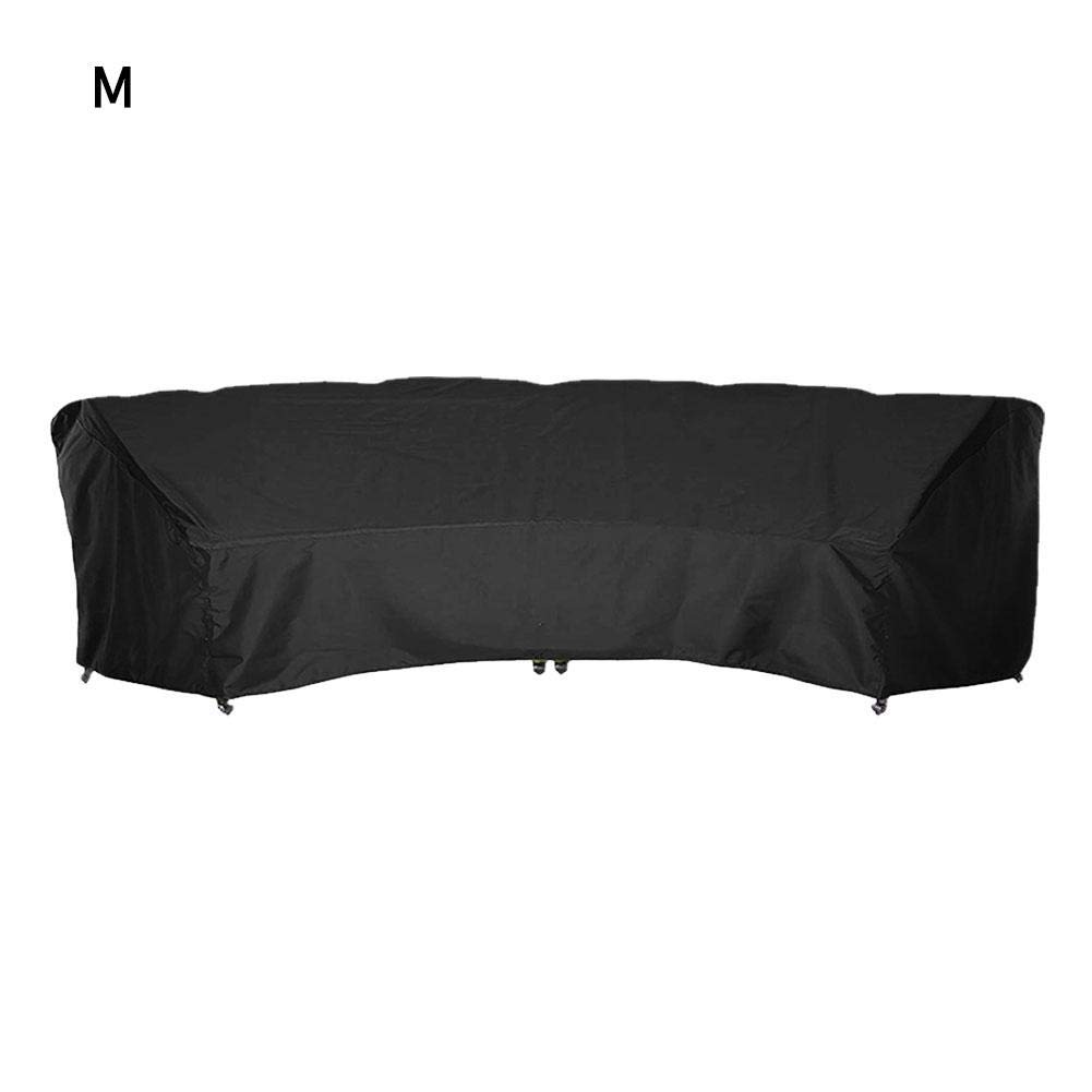 Cheng-store Outdoor Furniture Covers Patio Sectional Curved Couch Protector Black Waterproof for Half-Moon Sofa Sets by Cheng-store