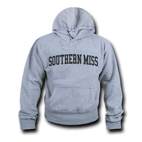 (W Republic NCAA Southern Mississippi Golden Eagles Unisex 503Game Day Hoodie, Heather Grey, Small)
