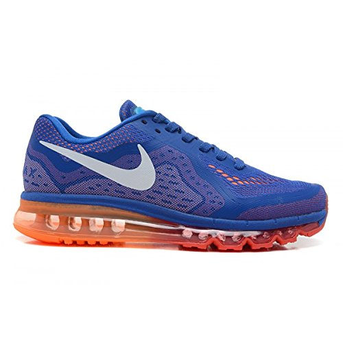 Nike Men's Air Max 2014, MLTRY BLUE/WHITE-TTL ORANGE-LT CRM, 12 M US
