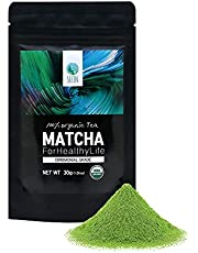SEEIN Organic Matcha Ceremonial Grade 30g - Authentic Korean Premium Green Tea Powder - 100% All Natural Pure Unsweetened - for latte smoothie baking iced - USDA Certified