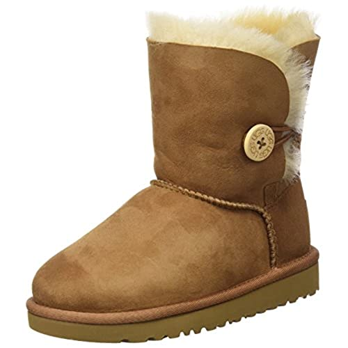 UGG Australia Bailey Button Boot Kids, Chestnut, 4 M