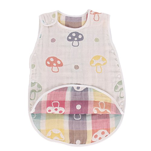 Fairy Baby 6-Layer Cotton Gauze Baby Sleep Bag and Sack Vest-Type Wearable Blanket,Size L from Fairy Baby