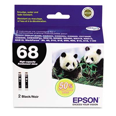 Black Dual Pack Ink Cartridge Hi-Cap Single Facing. Stylus C120/CX5000/6000/ 7000F/8400/9400FAX/WF600.