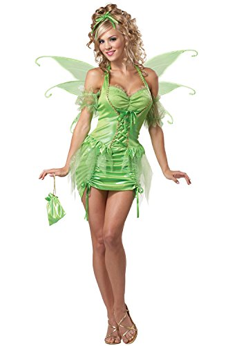 California Costumes Women's Eye Candy - Tinkerbell Fairy Adult, Green, (Sexy Fairy Costume)