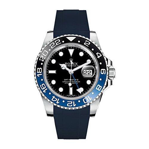 [ラバービー] RubberB ラバーベルト ROLEX GMTマスターIIセラミック専用ラバーベルト(ROLEX純正バックルを使用)(ネイビー)※時計は付属しません(Watch is not included)[並行輸入品]  B01I6NRCOE