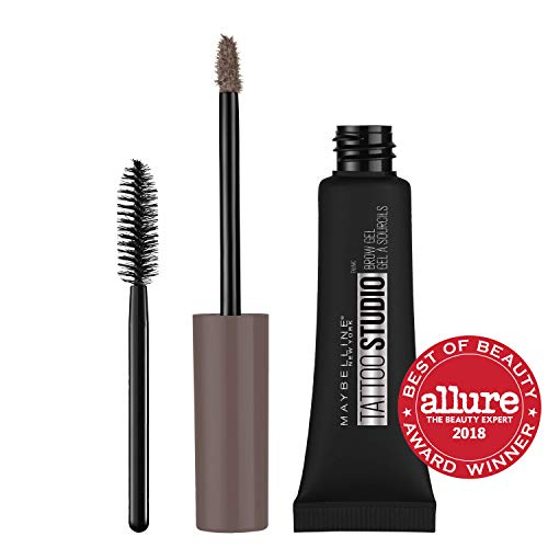Maybelline TattooStudio Waterproof Eyebrow Gel Makeup, Medium Brown, 0.23 Fl Oz (1 Count)