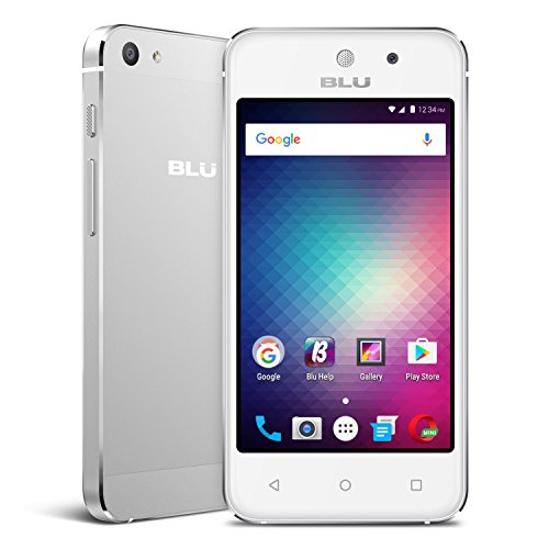Blu vivo 5 Mini – 4.0″ Smartphone Factory unlocked, Aluminum design, Silver