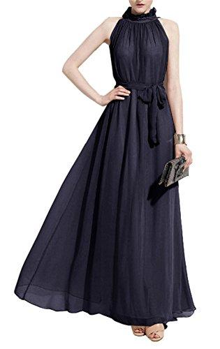 HM Women Summer Chiffon Sleeveless Evening Ball Gown Long Maxi Dresses (Ball Gowns For Tweens)