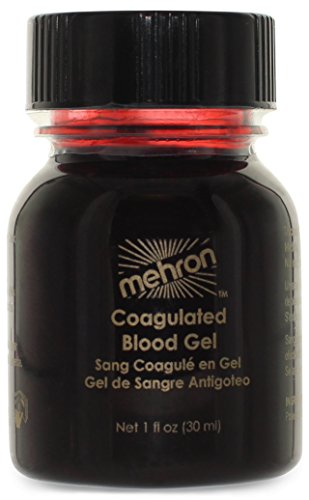 Halloween Fake Blood (Mehron Coagulated Blood Gel Professional Costume Makeup - 1 Ounce)