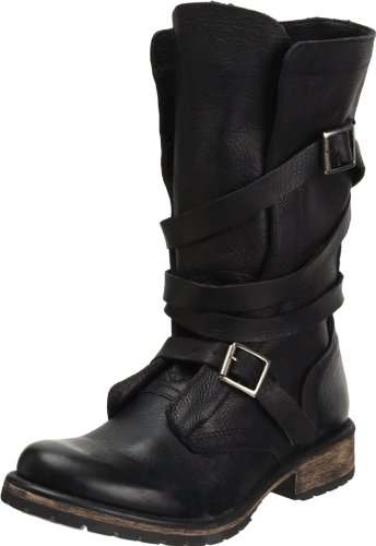 Steve Madden Women's BANDDIT, Black Leather, 6.5 M US ()