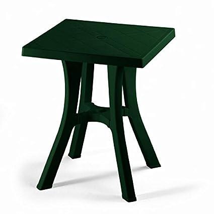 Table carré pour extérieur démontable, table résine 70 x 70 ...