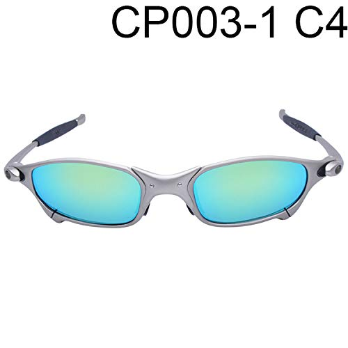 Polarized Cycling Glasses Alloy Frame Sport Riding Bike Goggles Eyewear,Light Green