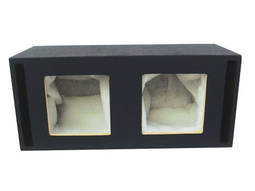 Absolute USA DKS12 Dual 12-Inch MDF Square-Hole Vented Enclosure Box for Kicker L7 L5 Solo-Baric - L7 Solo Baric 12