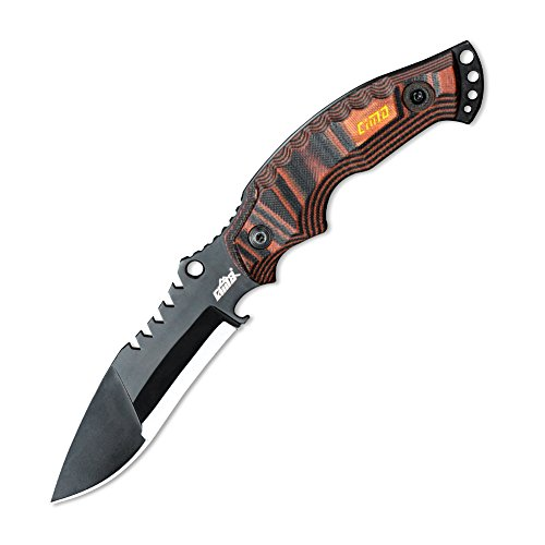 CIMA military fighting knives, outdoor survival knife (Brownish red handle)