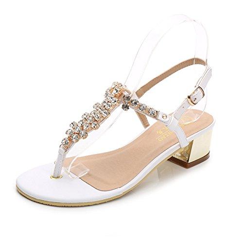 SUNAVY - Zapatos con tacón Mujer blanco 2